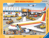 Ravensburger Children's Puzzles See-Inside Frame Puzzles - At the Airport (41 pc Puzzle) 6669