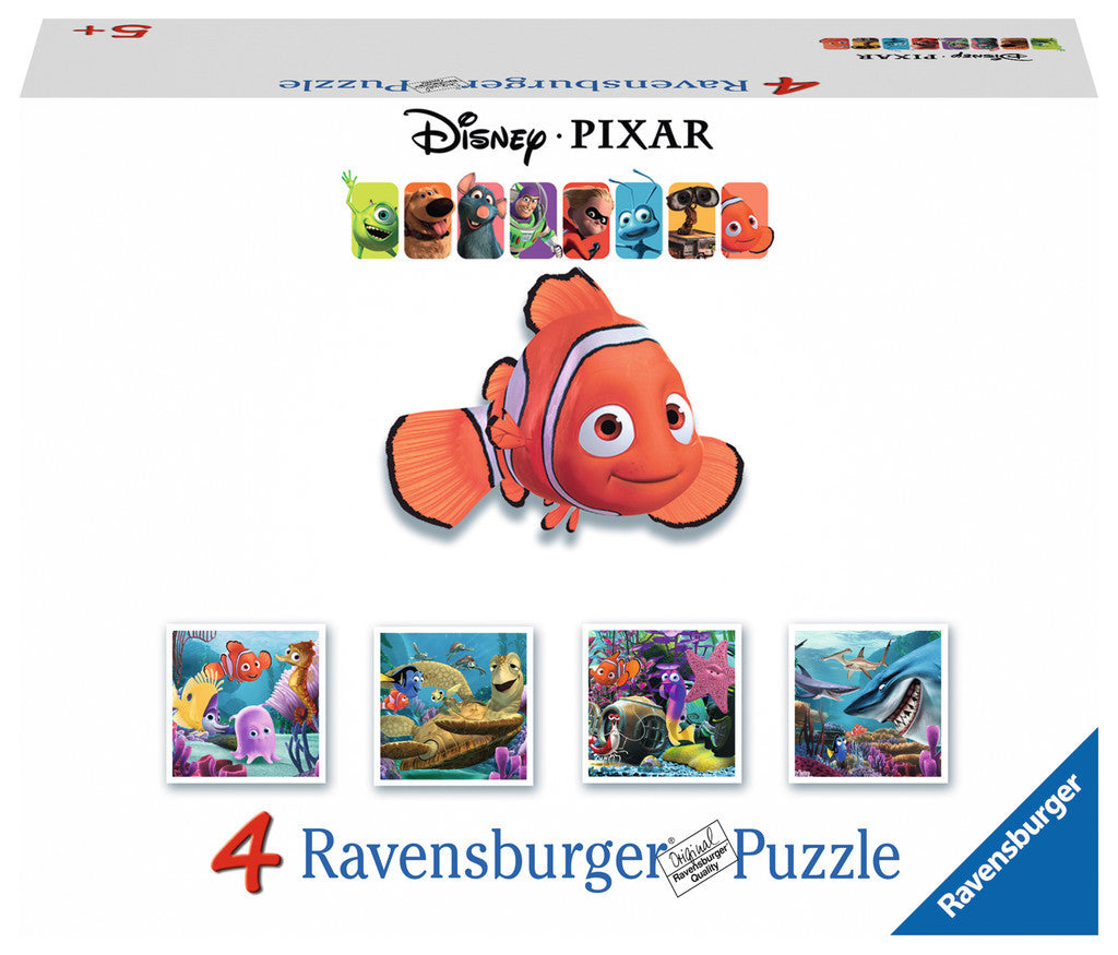 Ravensburger Disney Finding Nemo The Friends Puzzles in a Suitcase Box (2 x 64 & 2 x 81 Piece)   07002