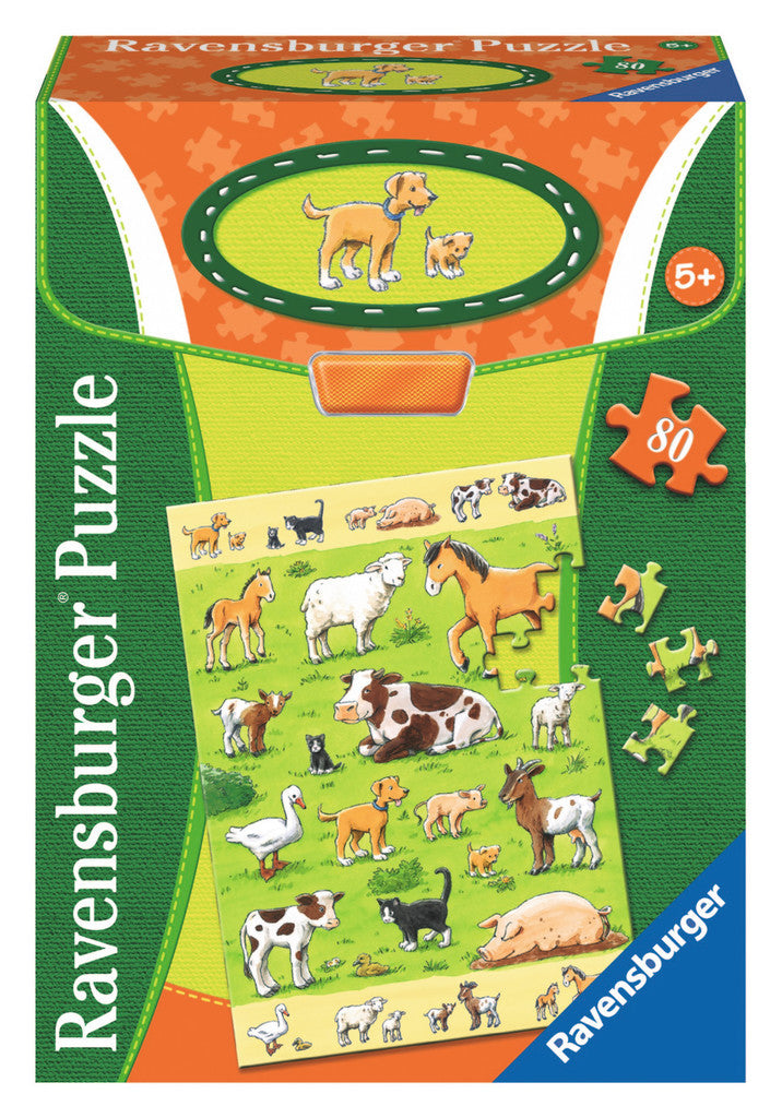Ravensburger Children's Puzzles 80 pc Puzzles - Animals & their Babies 7544