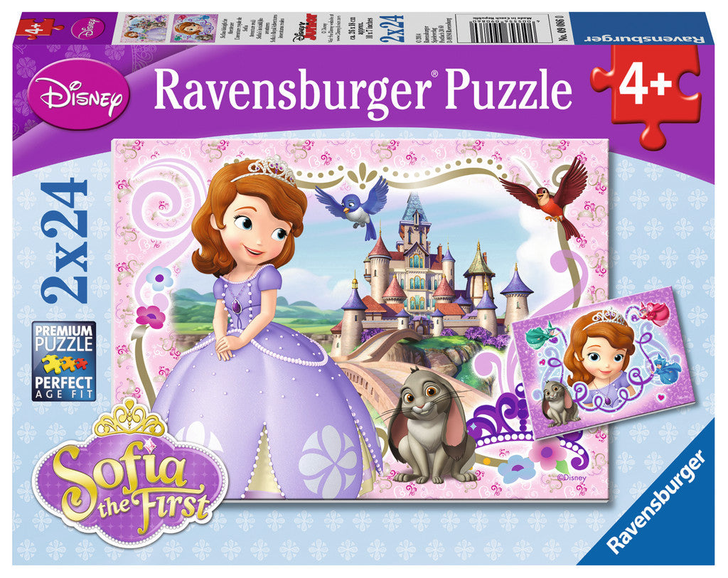 Ravensburger Junior™ Sofia the First: Sofia's Royal Adventures (2 x 24 pc Puzzles) 09086