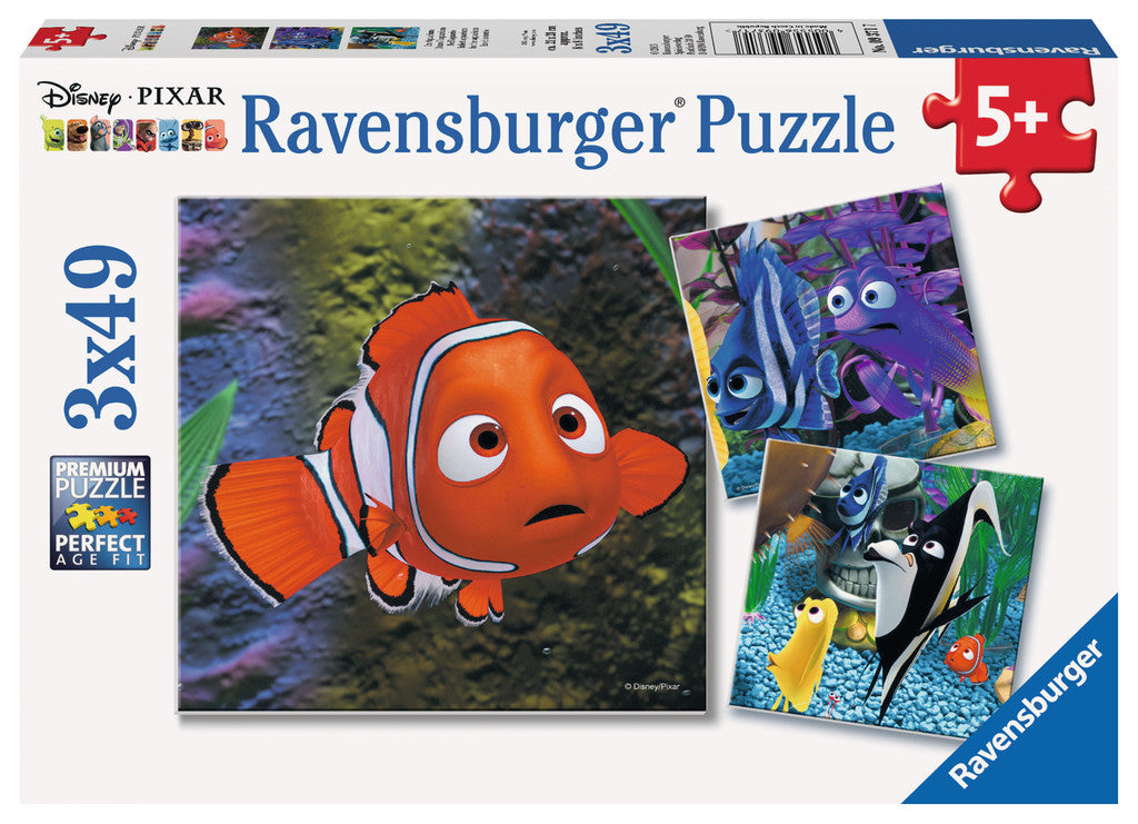 Ravensburger Disney Pixar™ Finding Nemo: In the Aquarium (3 x 49 pc Puzzles) 09371