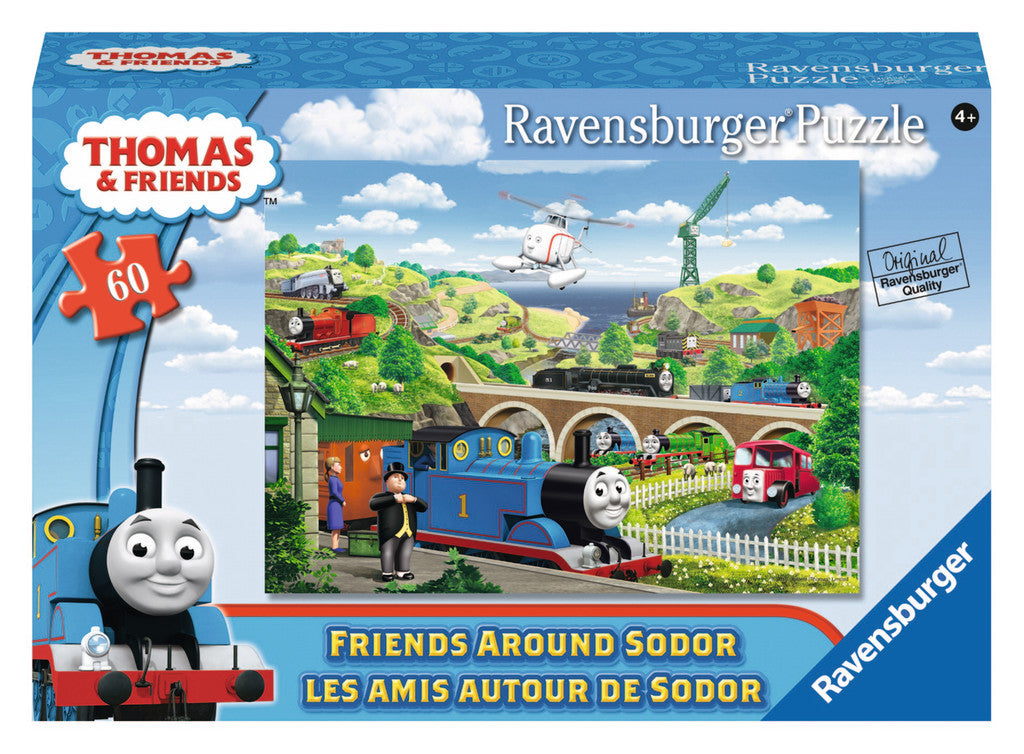 Ravensburger Thomas & Friends™ Friends Around Sodor (60 pc Puzzle in a small Suitcase Box) 09619