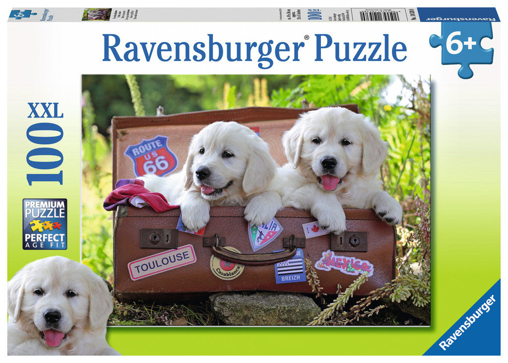 Ravensburger Children's Puzzles 100 pc Puzzles - Traveling Pups 10538