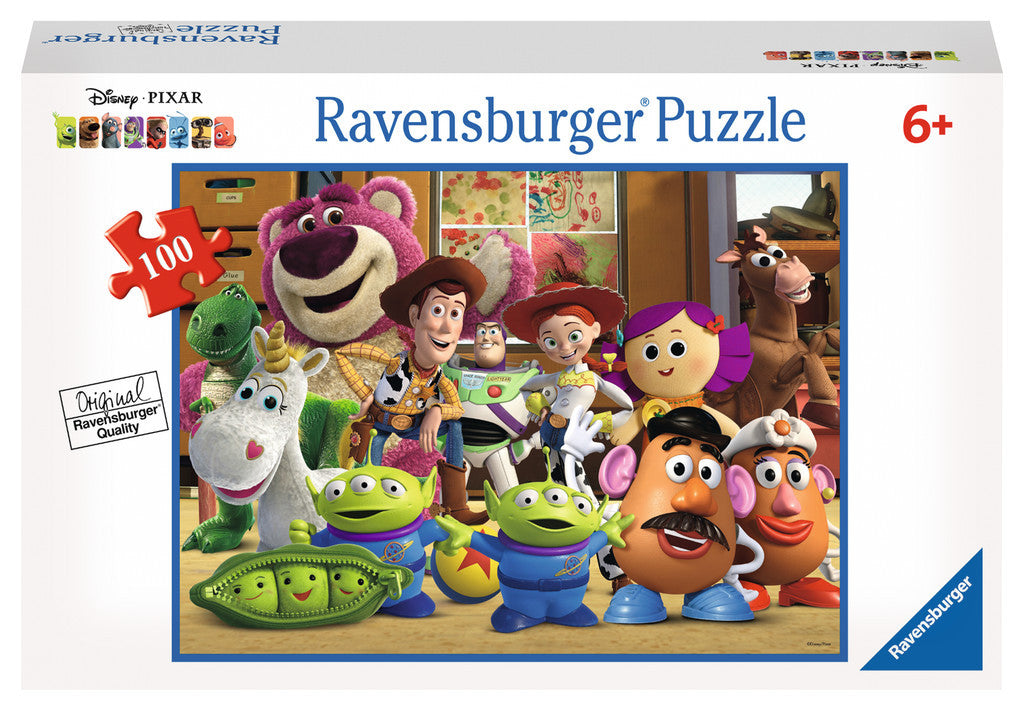 Ravensburger Disney Pixar™ Toy Story: Lineup of Friends (100 pc XXL Puzzle in a Small Suitcase) 10574