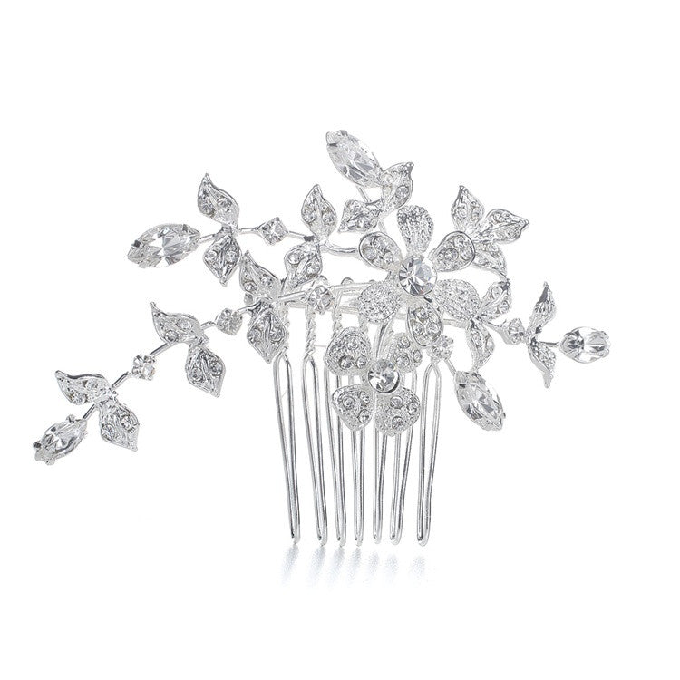 Wedding or Bridal Comb/Brooch with Crystal Garden 1073H-S