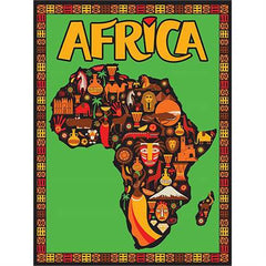 "GeoToys Africa In Symbols 18"" X 24"" Poster"