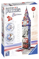 Ravensburger 3D Puzzles Big Ben - Flag Edition 12582