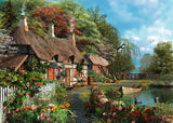 Ravensburger Adult Puzzles 300 pc Large Format Puzzles - Cottage on a Lake 13580