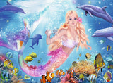 Ravensburger Children's Puzzles 100 pc Glitter Puzzles - Mermaid & Dolphins 13642