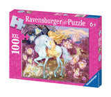 Ravensburger Children's Puzzles 100 pc Glitter Puzzles - Riding in the Woods 13833