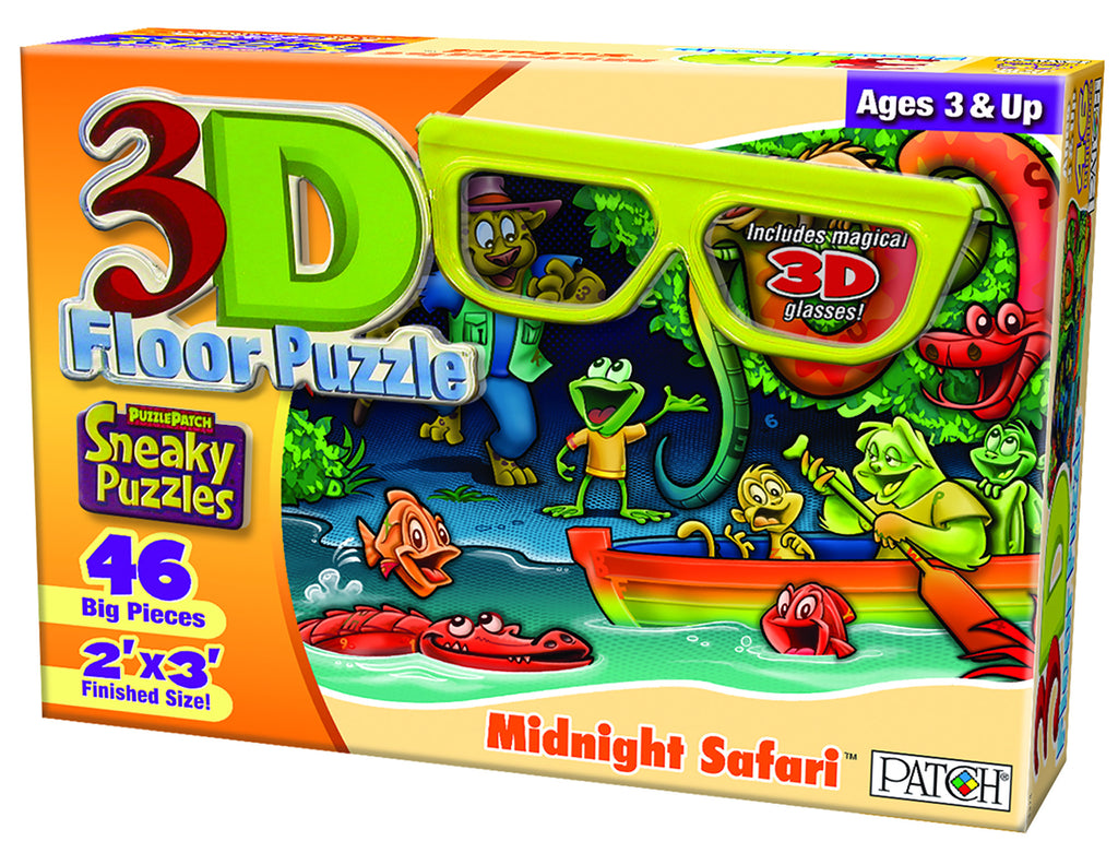 3D Sneaky Puzzles® Midnight Safari™ 1414