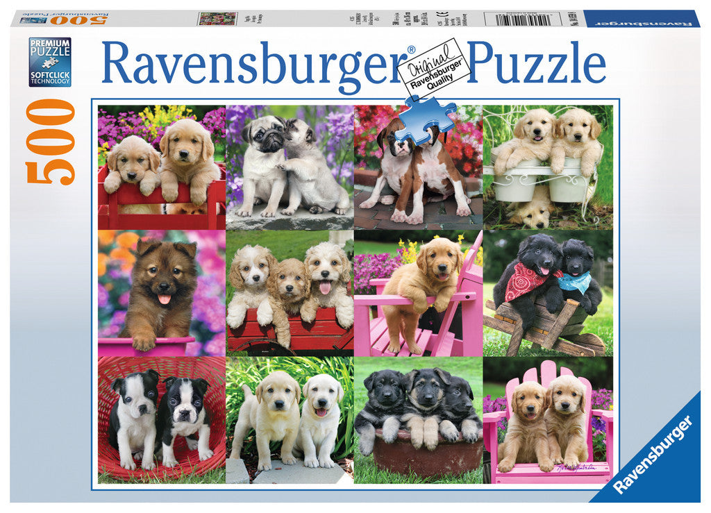 Ravensburger Adult Puzzles 500 pc Puzzles - Puppy Pals 14659