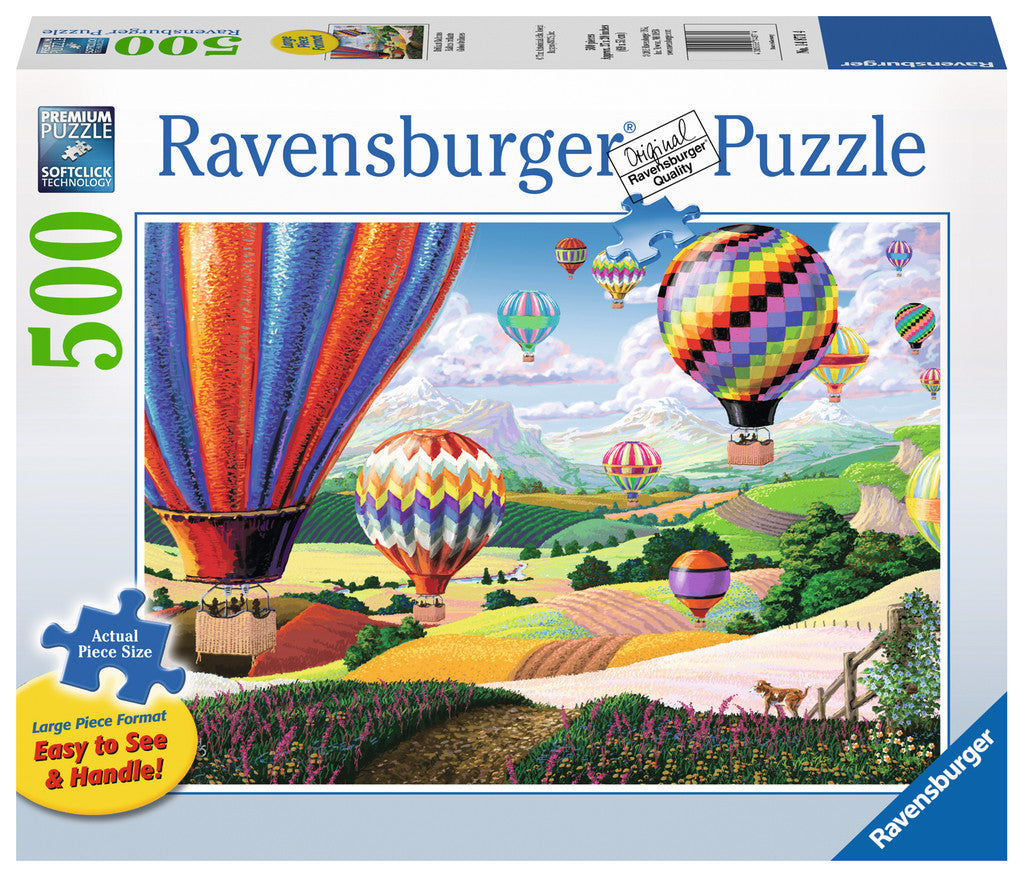 Ravensburger Adult Puzzles 500 pc Large Format Puzzles - Brilliant Balloons 14871