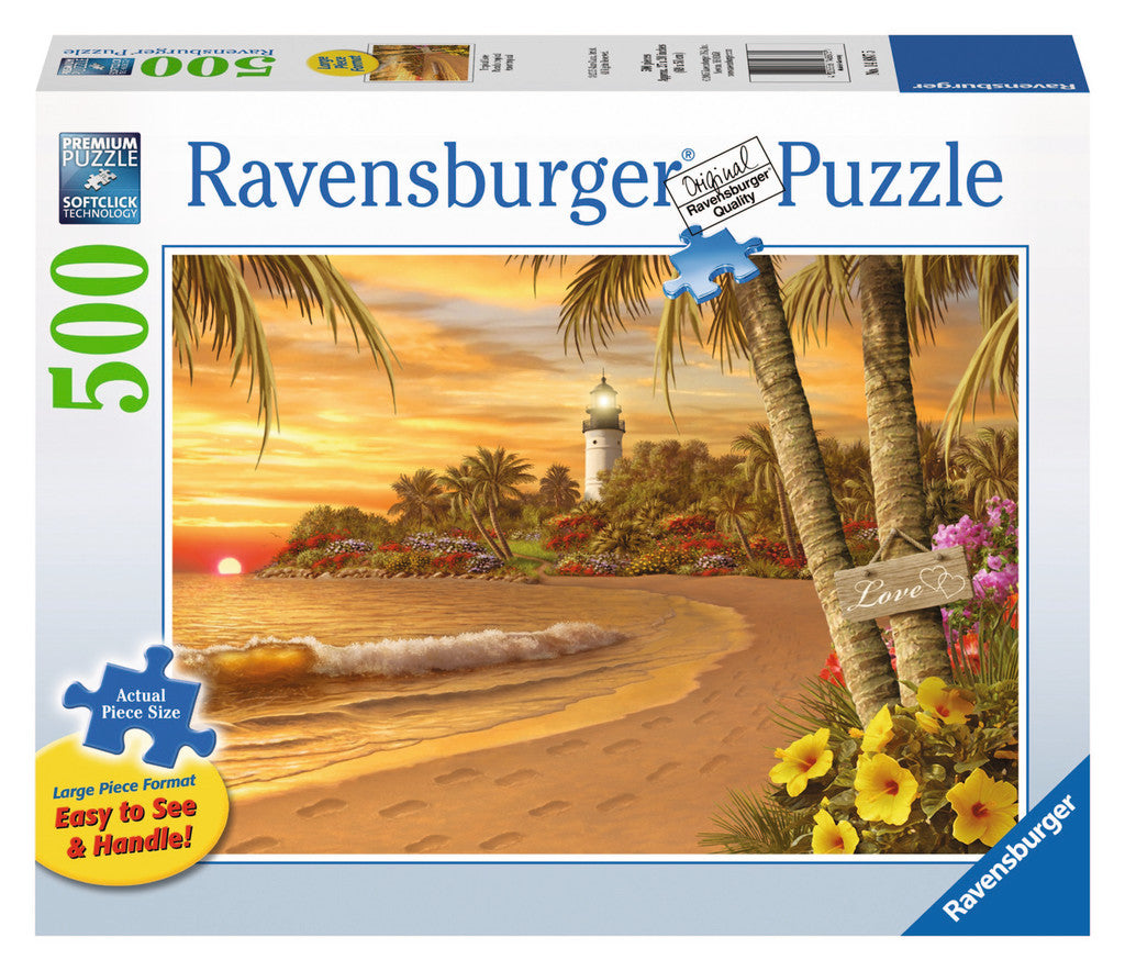 Ravensburger Adult Puzzles 500 pc Large Format Puzzles - Tropical Love 14887