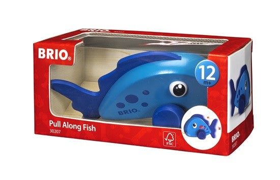 Brio Infant/Toddler - Pull Alongs - Pull Along Fish 30207