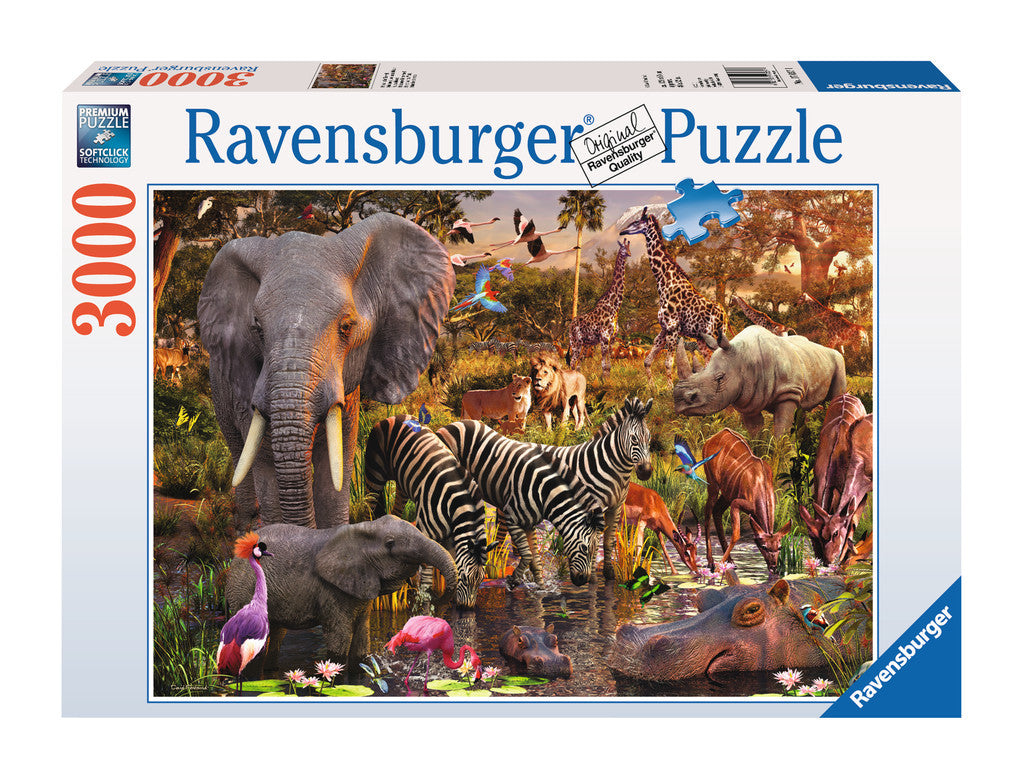 Ravensburger Adult Puzzles 3000 pc Puzzles - African Animal World 17037