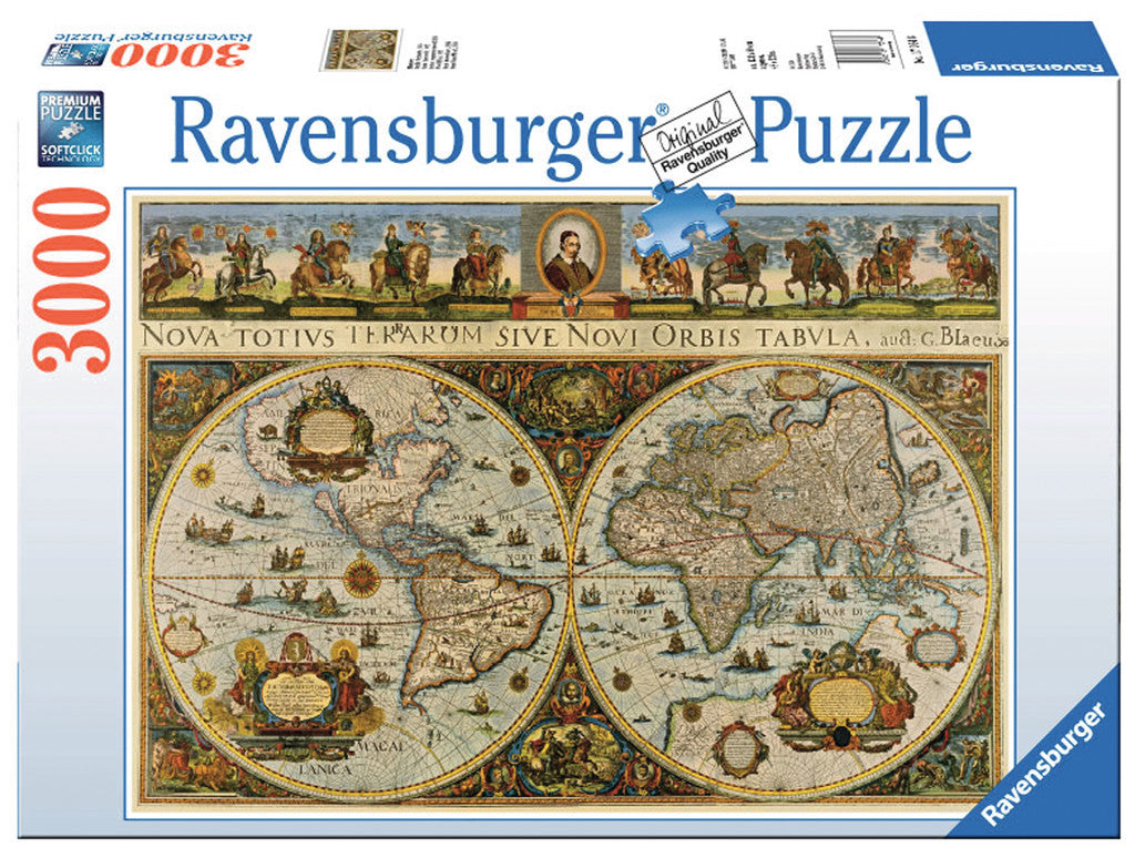 Ravensburger Adult Puzzles 3000 pc Puzzles - World Map, 1665 17054
