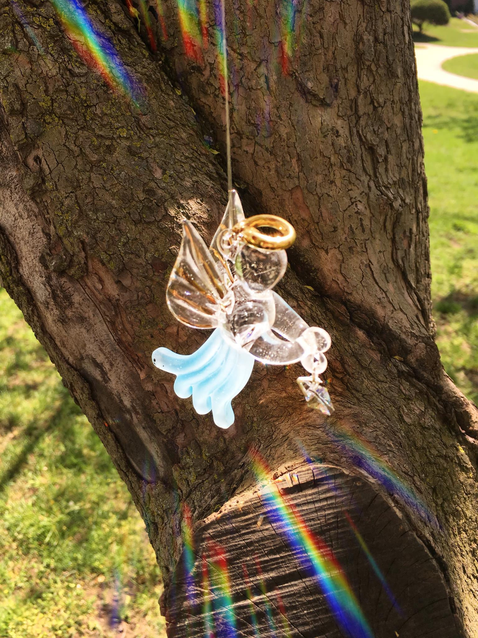 Woodstock Crystal Loving Angel - Aquamarine LAA