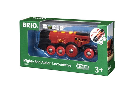 Brio Railway - Battery Engines - Mighty Red Action Locomotive 33592