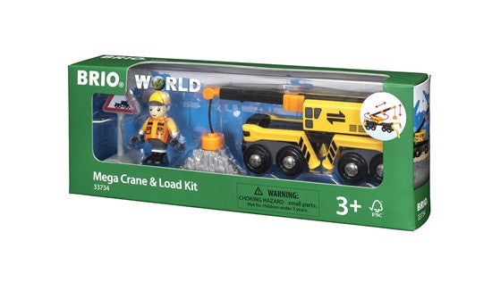 Brio Railway - Trains - Megacrane & Load Kit 33734