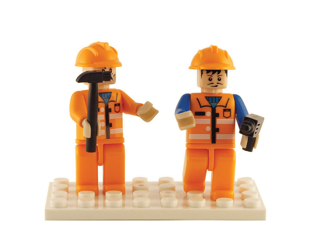 Brictek 2 Mini-figurines Construction 19206