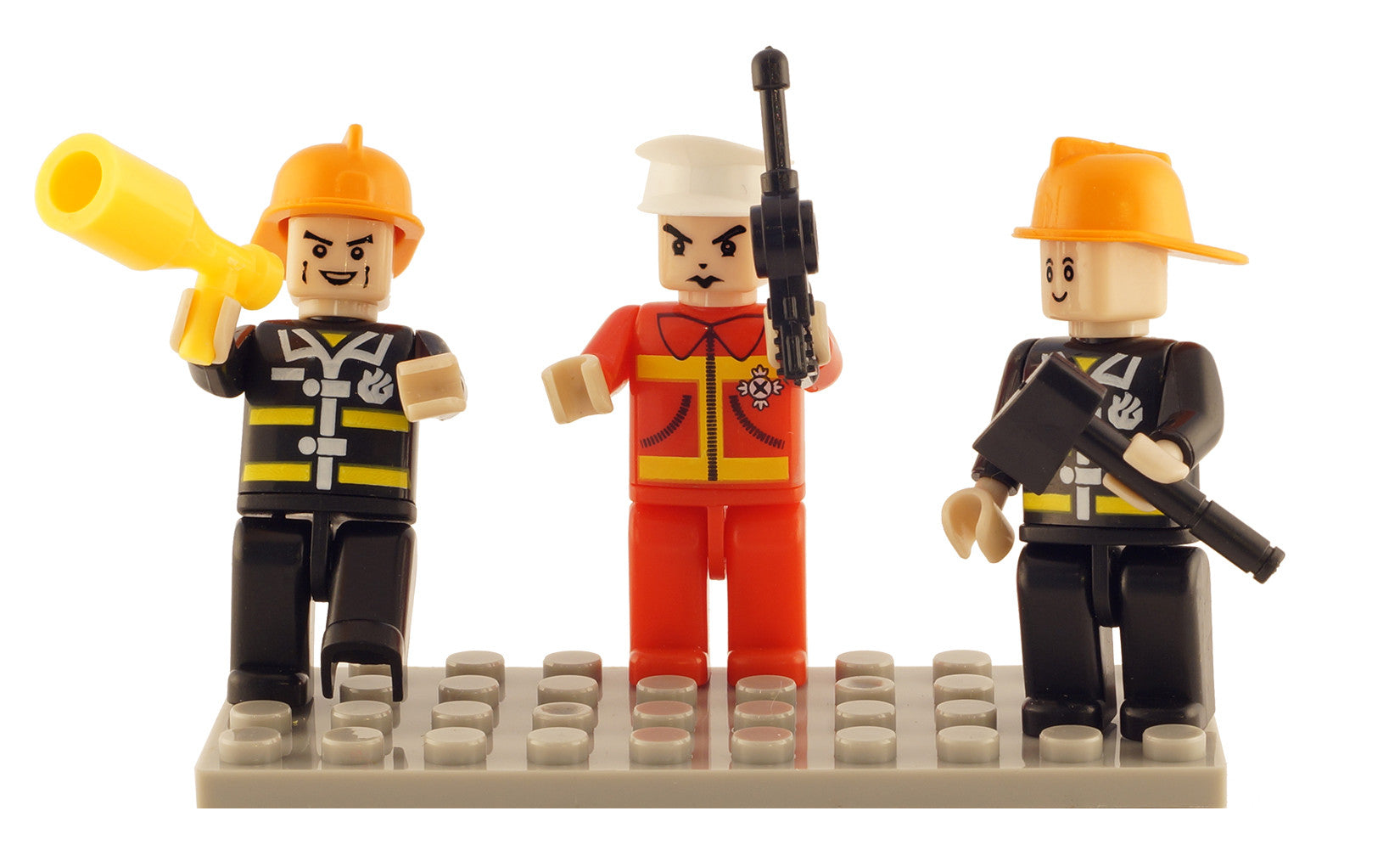 Brictek 3 Mini-figurines Fire Brigade 19304