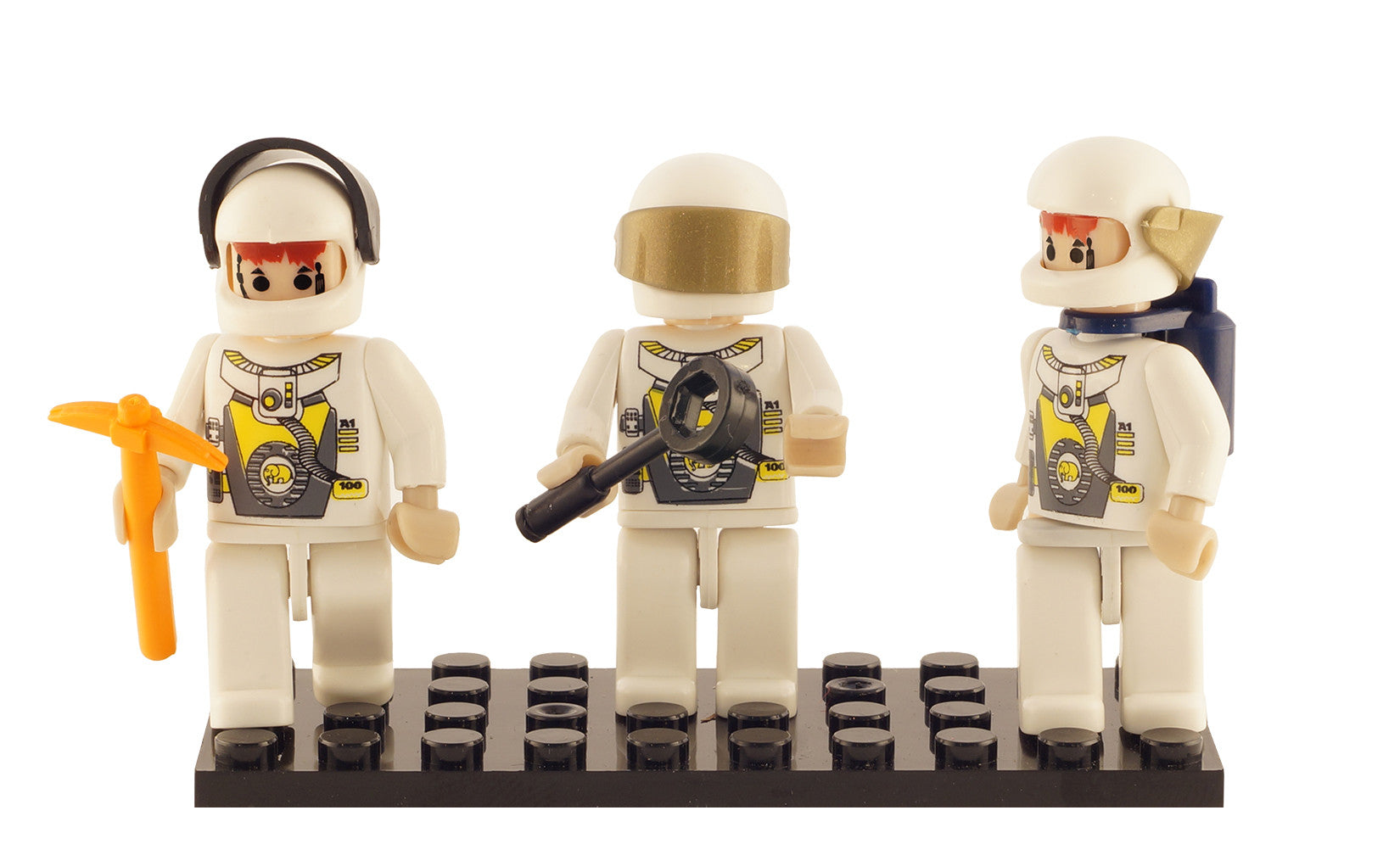 Brictek 3 Mini-figurines Space Team 19309