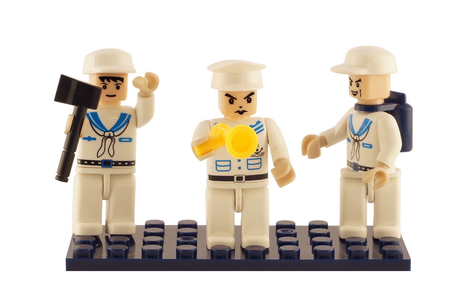 Brictek 3 Mini-figurines Navy 19310