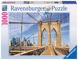 Ravensburger Adult Puzzles 1000 pc Puzzles - View from the Brooklyn Bridge 19424