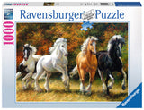 Ravensburger Adult Puzzles 1000 pc Puzzles - Galloping Horses 19522