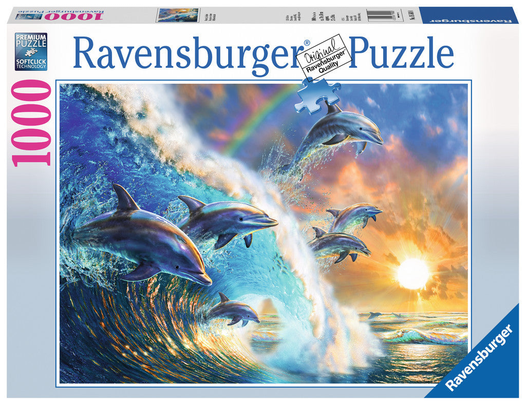 Ravensburger Adult Puzzles 1000 pc Puzzles - Dancing Dolphins 19580