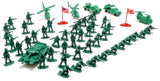 VIAHART 140+ Action Figures Army Men Toy Soldier Play Set with Tanks, Planes, Flags & More!
