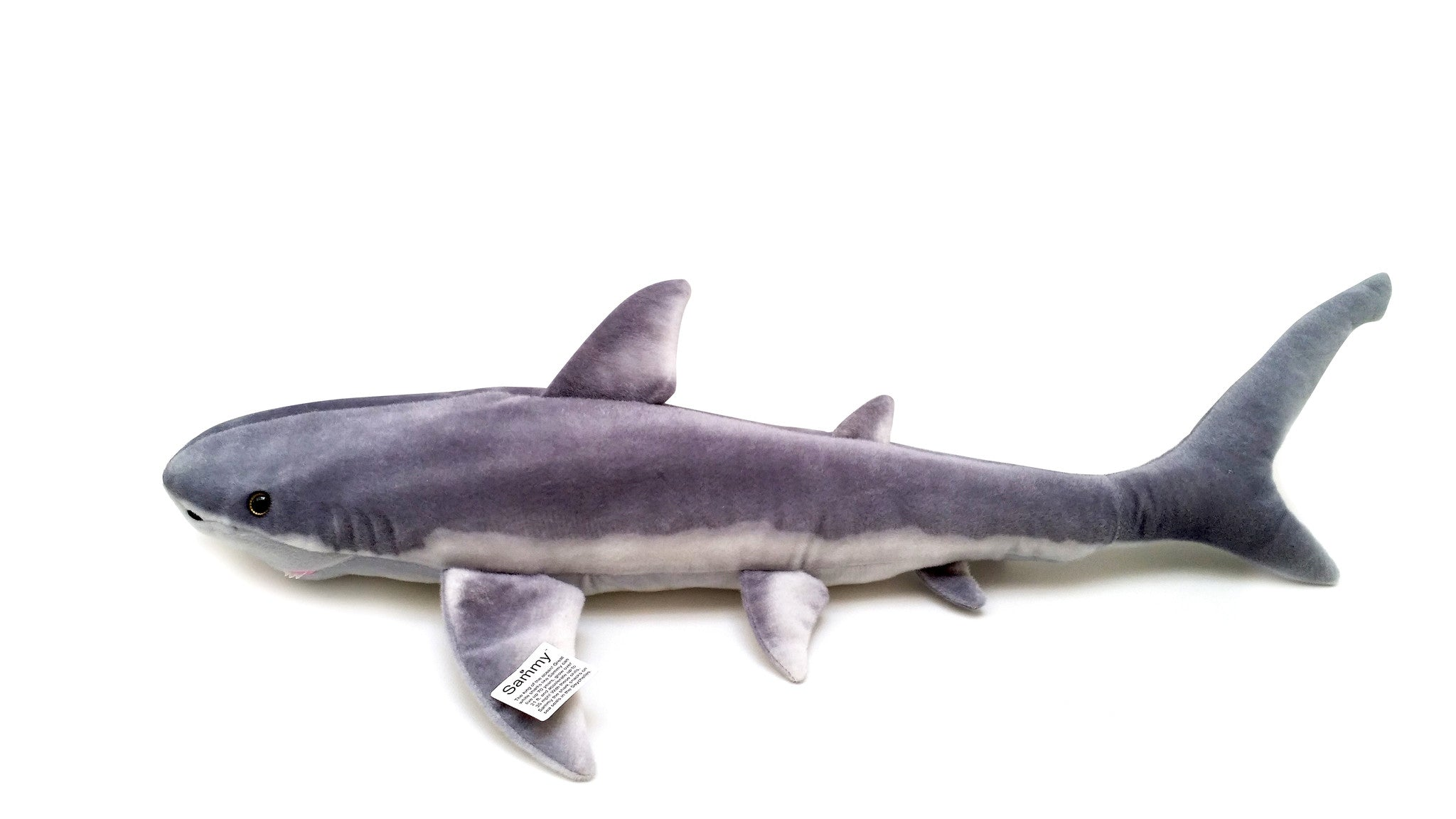 VIAHART 37 Inch Great White Shark Stuffed Animal Plush - Sammy the Shark
