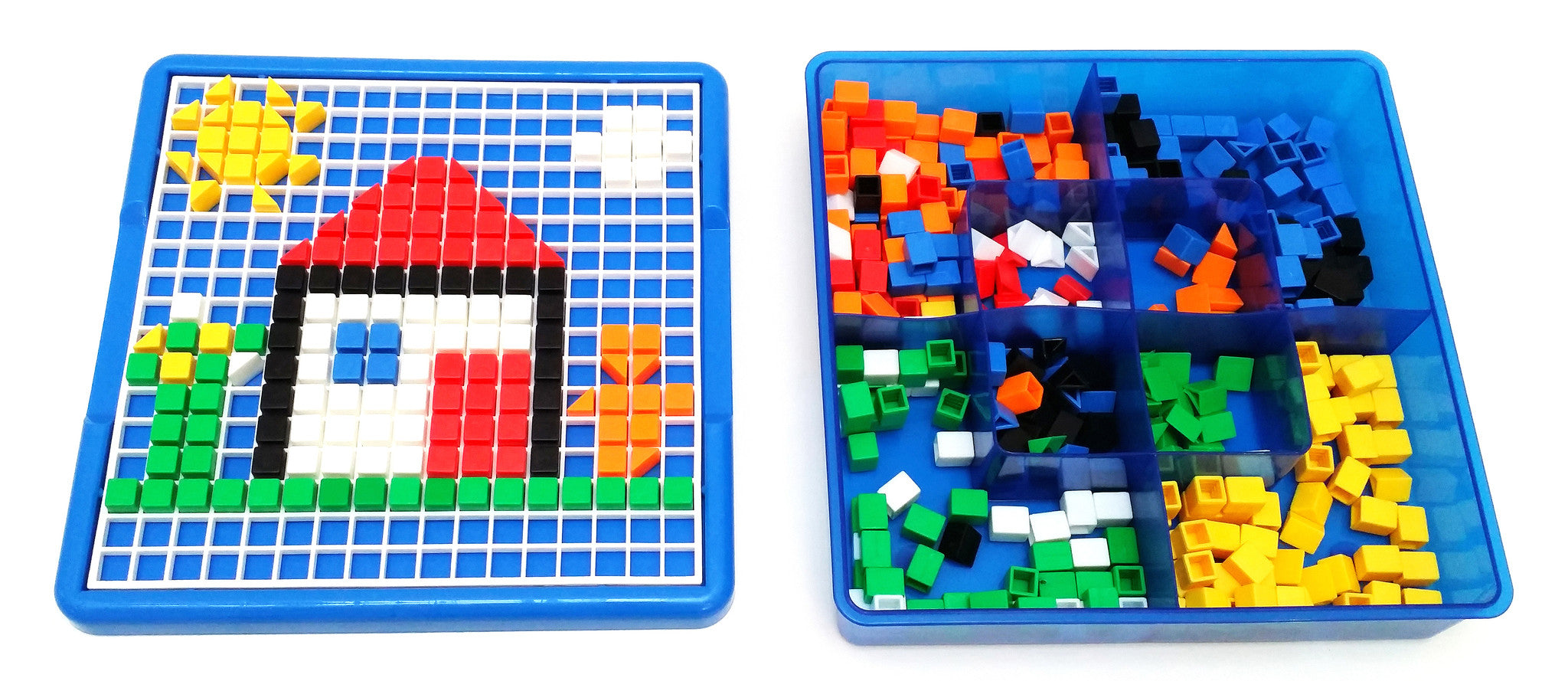 VIAHART Creative Mosaic Pegboard Jigsaw Puzzle Block Building Game for Kids Kindergarten Educational Toys