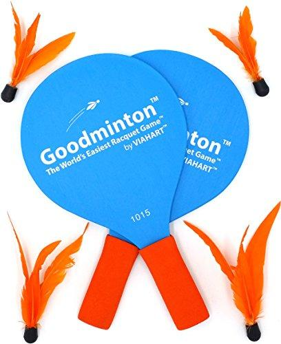 VIAHART Goodminton | The World's Easiest Racket Game | an Indoor Outdoor Year-Round Fun Racquet Game for Boys, Girls, and People of All Ages
