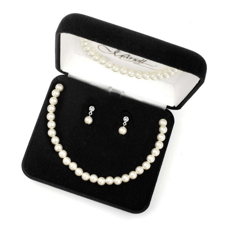 3-Pc. Pearl Boxed Wedding Jewelry 2109BS
