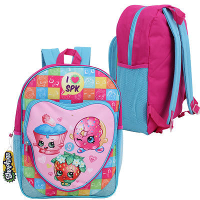 Shopkins - 16'' I Love Shopkins Pink/Aqua LG Backpack