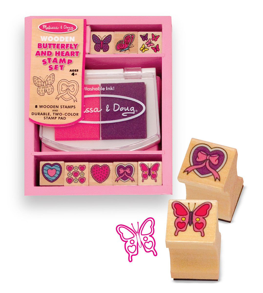 Melissa & Doug Butterfly and Hearts Stamp Set 2415