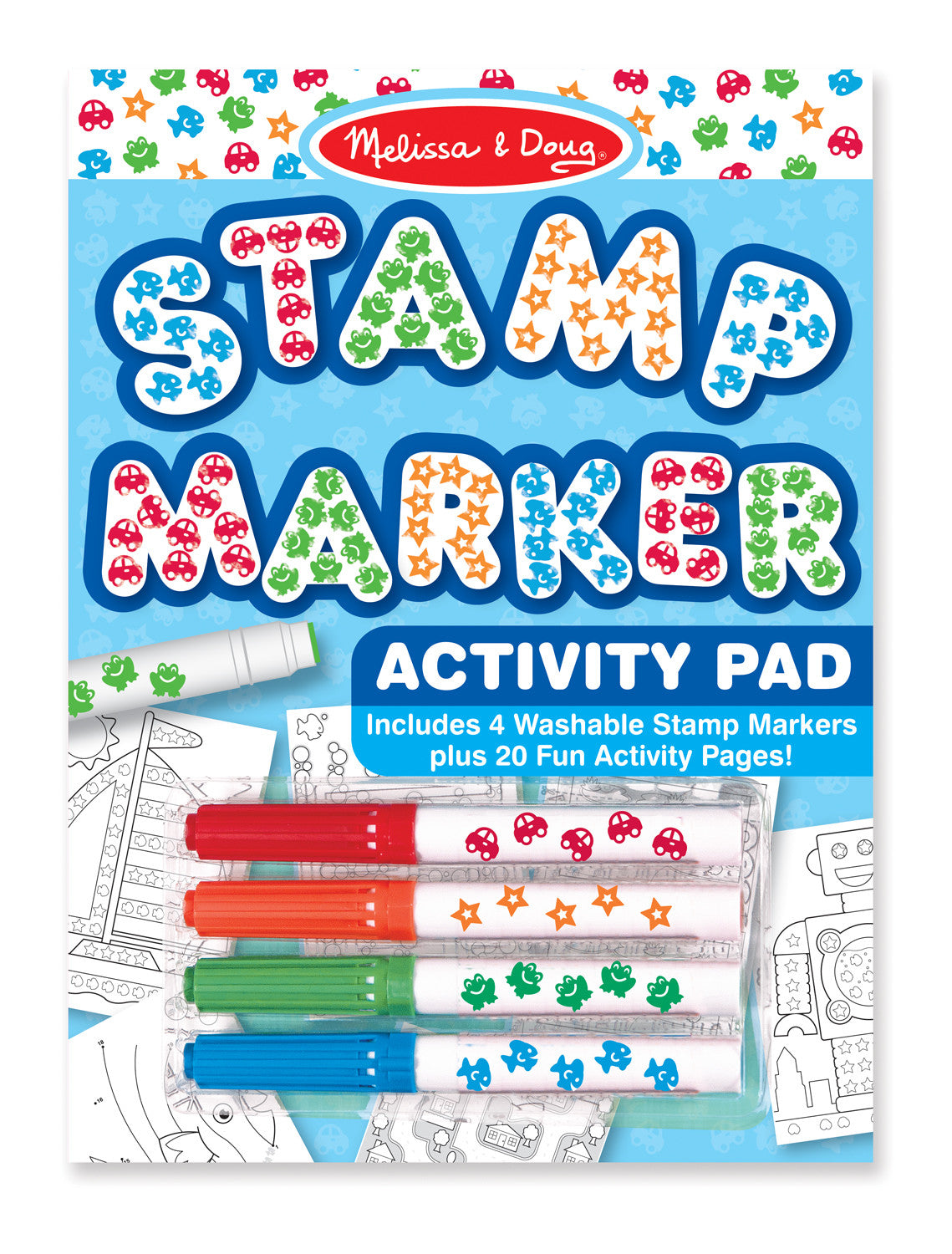 Melissa & Doug Stamp Marker Activity Pad - Blue 2422