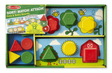 Melissa & Doug Sort, Match, Attach Nuts & Bolts Boards 2433