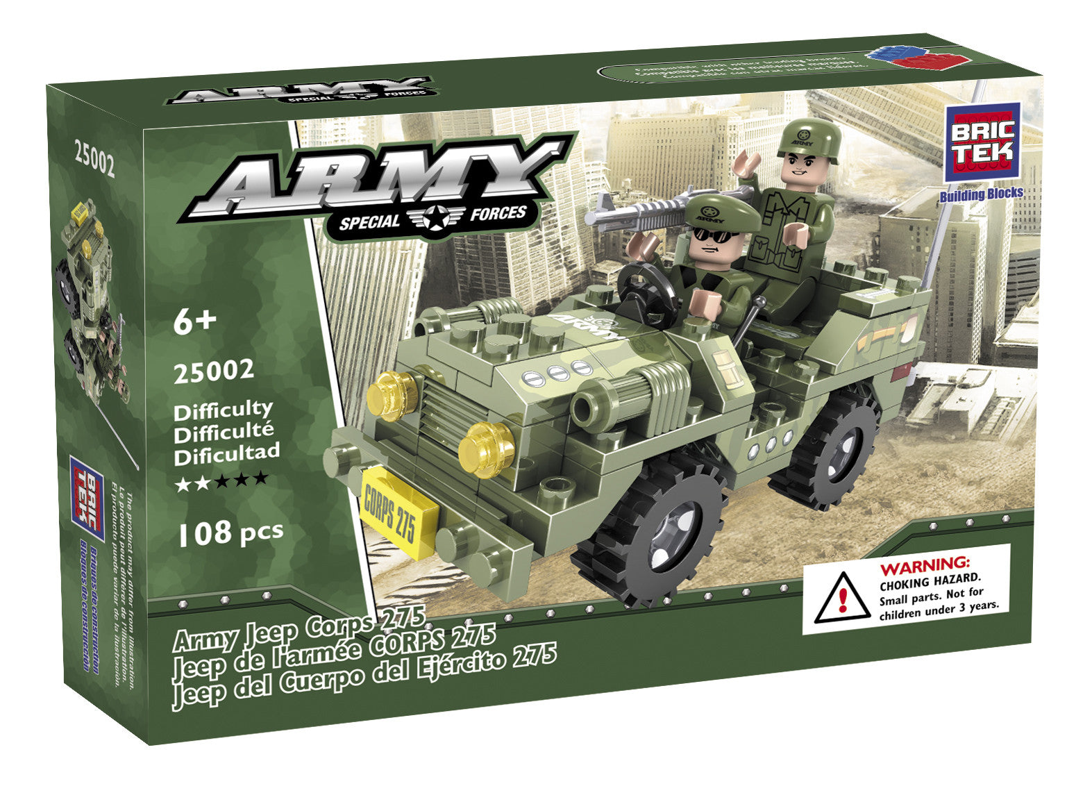 Brictek Army Jeep Corps 25002