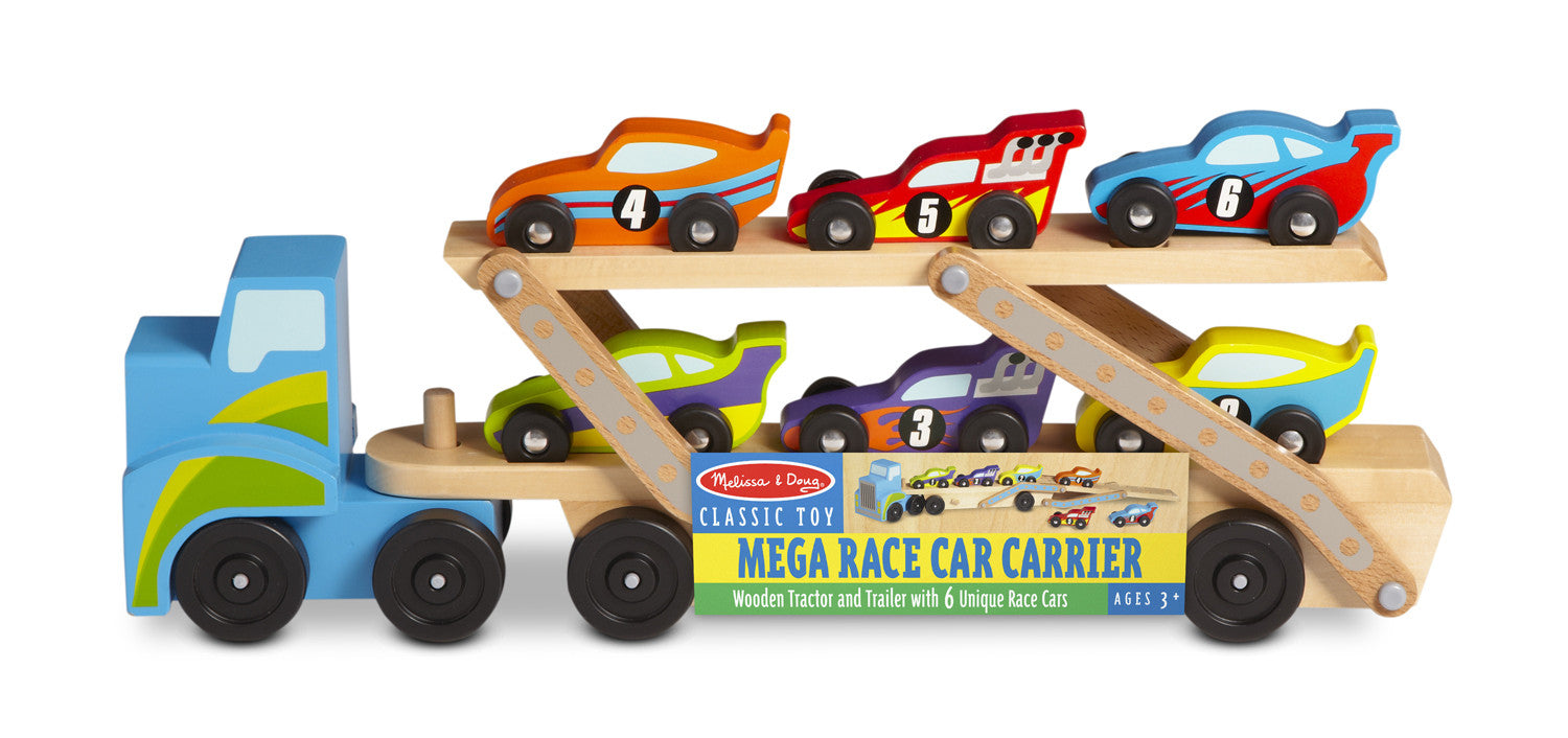 Melissa & Doug Jumbo Race-Car Carrier 2759