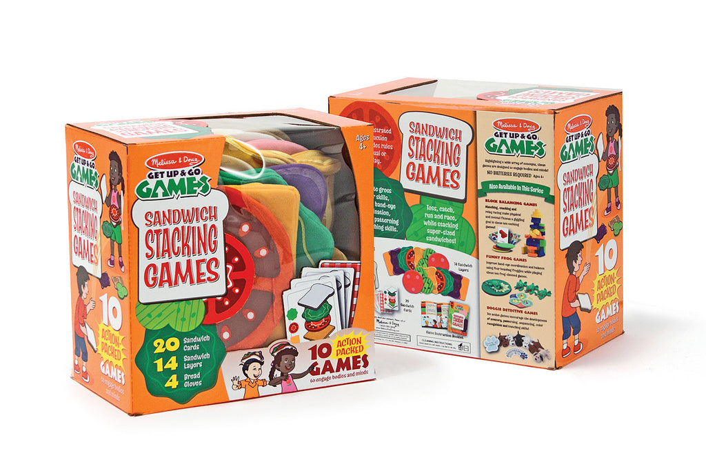 Melissa & Doug Sandwich Stacking Games 3061