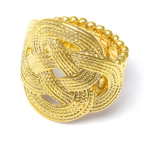 Low Sale Price Braided Gold Stretch Ring