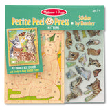 Melissa & Doug Petite Peel & Press Sticker by Number - Kittens