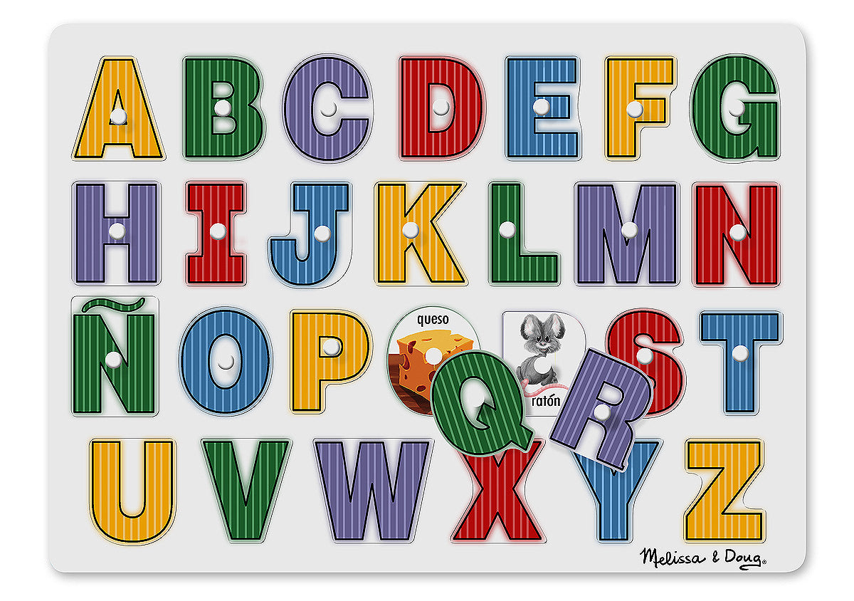 Melissa & Doug See-Inside Spanish Alphabet Peg 3271