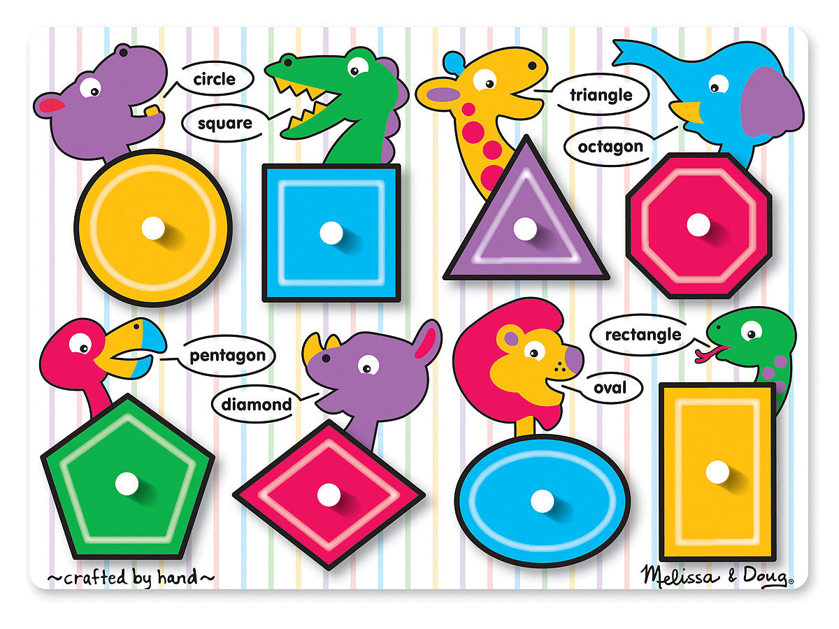 Melissa & Doug Shapes Peg 3285