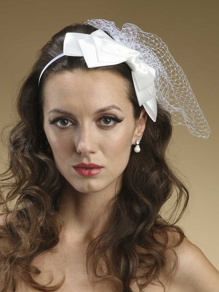 5-Layer Satin Bow Headband 3352H-W - Discontinued