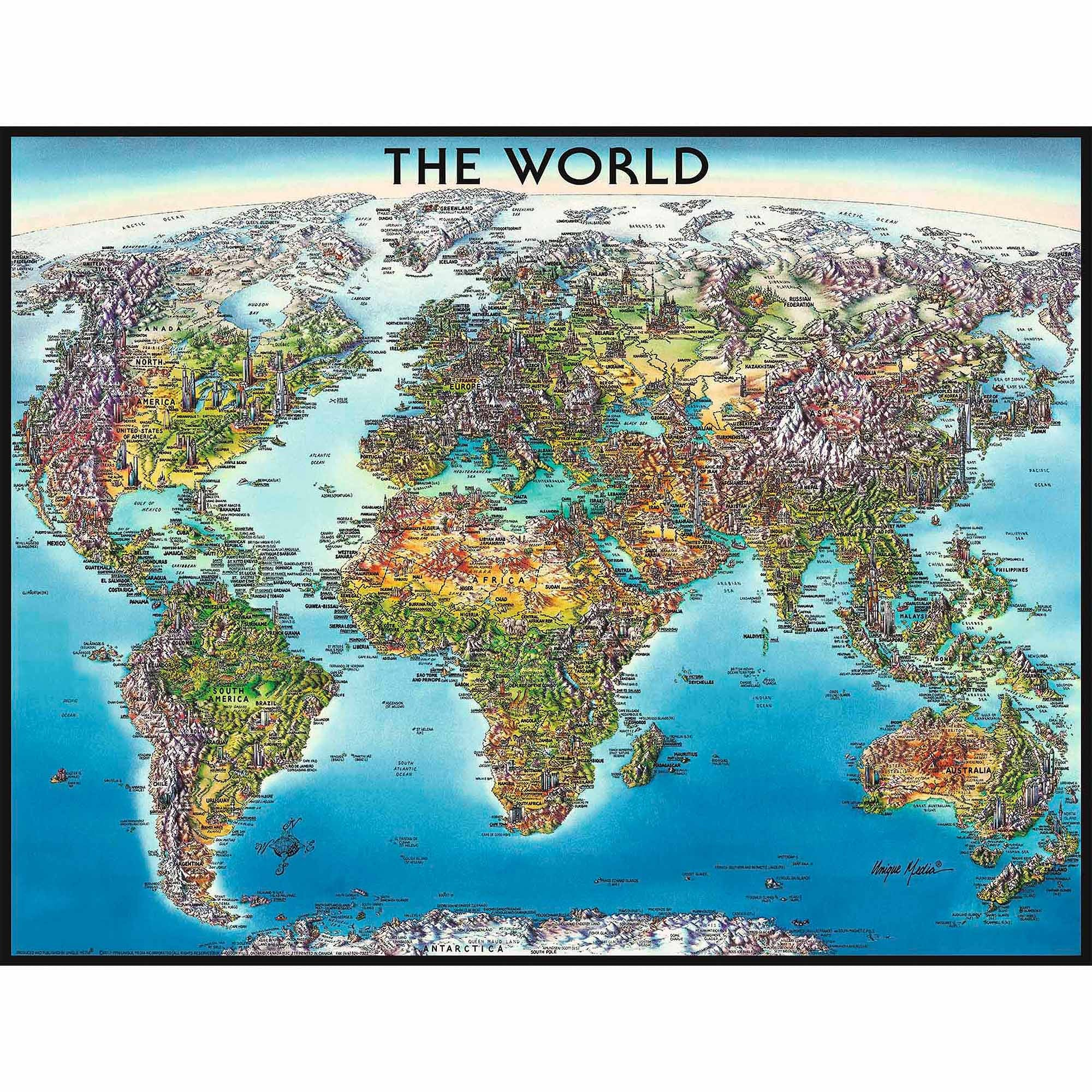 Ravensburger Adult Puzzles 2000 pc Puzzles - World Map 16683