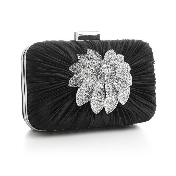 Bejeweled Satin Minaudiere Evening Bag 3453EB-JE